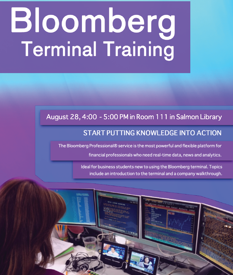 Bloomberg Terminal Training on August 28th | UAH Library Blog
