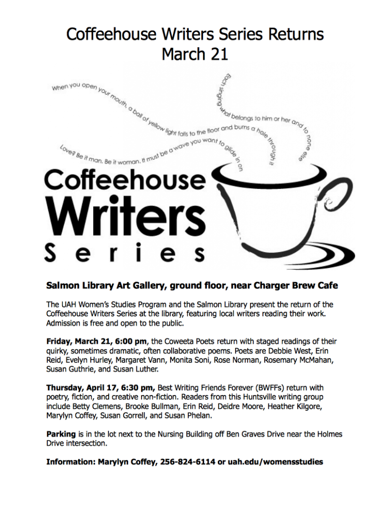 Coffeehouse Writers Series, Spring 2014
