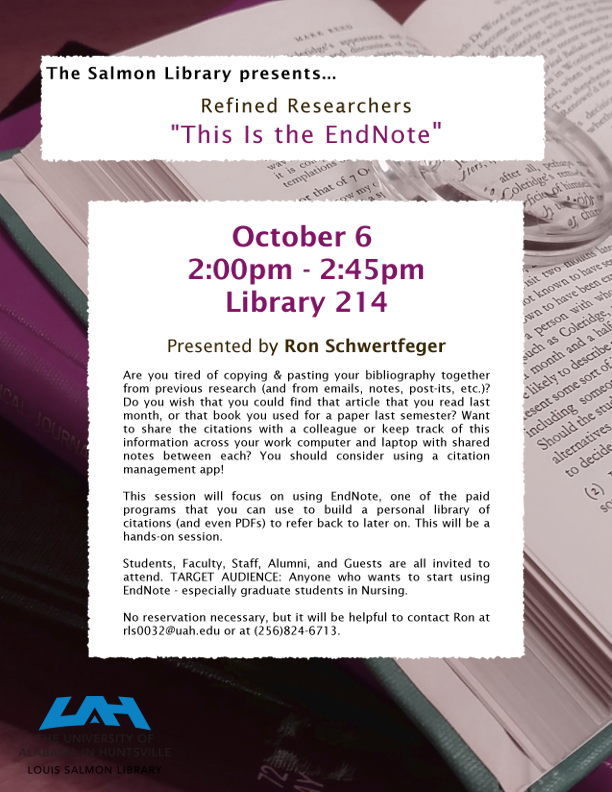 Refined Researcher Endnote Flyer