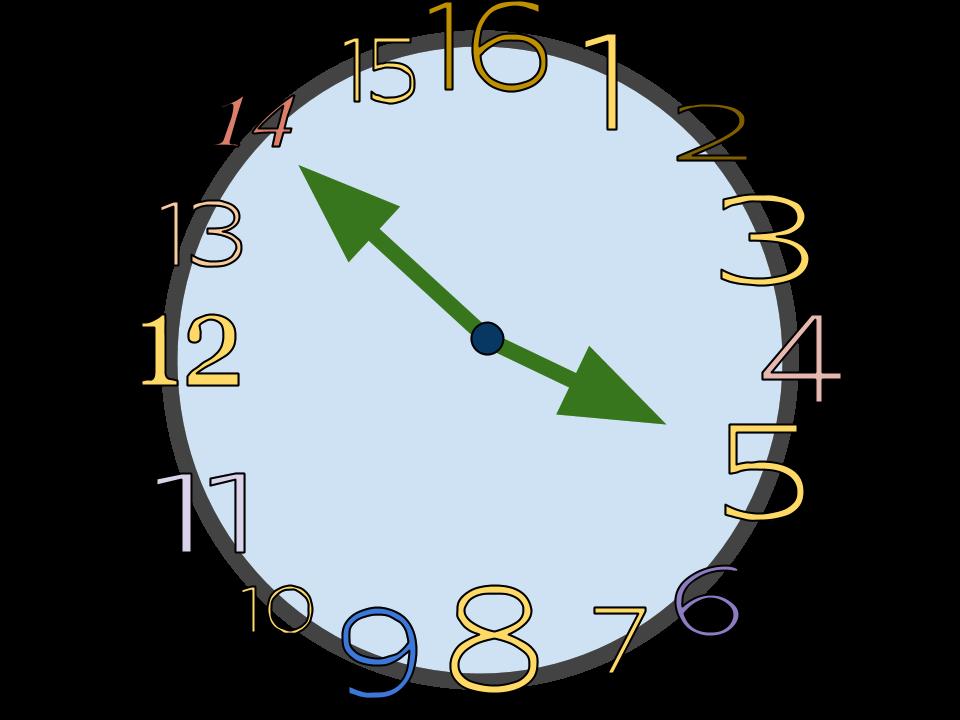A 16 hour clock