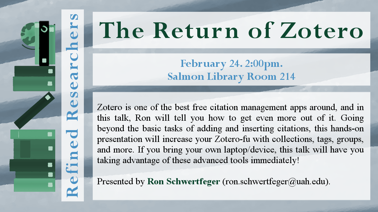 Flyer for workshop The Return Of Zotero